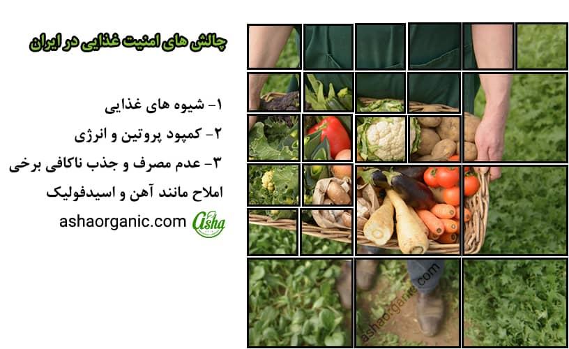 چالش های امنیت غذایی در ایران